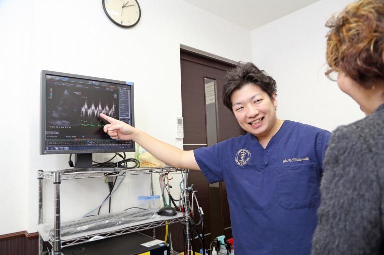 心臓エコーを駆使した検査と、進行度に合った治療